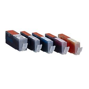 5 edding EDD-502 schwarz, cyan, magenta, gelb Tintenpatronen ersetzt Canon PGI-550 XL BK, CLI-551 XL BK/C/M/Y