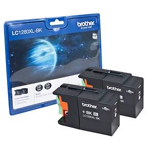 2 brother LC-1280XLBK schwarz Tintenpatronen