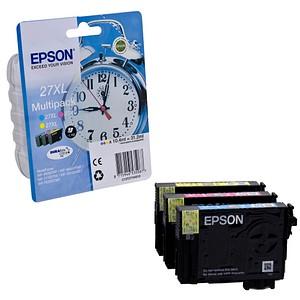 3 EPSON 27XL / T2715XL cyan, magenta, gelb Tintenpatronen