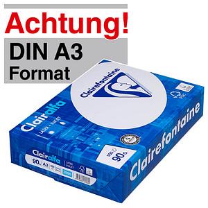 Clairefontaine Kopierpapier Clairalfa DIN A3 90 g/qm 500 Blatt