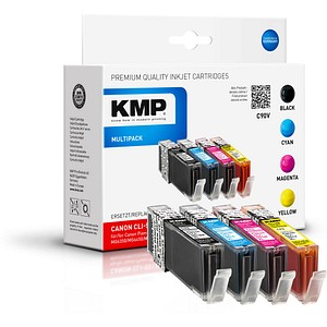 4 KMP C90V schwarz, cyan, magenta, gelb Tintenpatronen ersetzen Canon CLI-551 XL BK/C/M/Y
