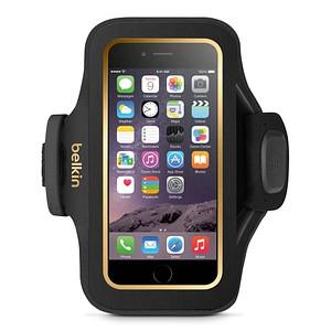 belkin Slim-Fit Plus Sportarmband f uuml r Smartphones f uuml r Apple iPhone 6, iPhone 6s schwarz