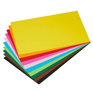 folia Fotokarton farbsortiert 22,0 x 33,0 300 g/qm