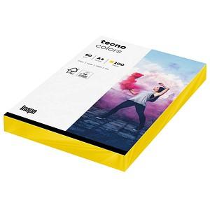 tecno Kopierpapier colors intensivgelb DIN A4 80 g/qm 100 Blatt