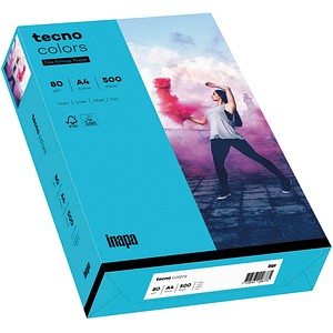 tecno Kopierpapier colors blau DIN A4 80 g/qm 500 Blatt