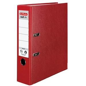 herlitz maX.file protect Ordner rot Kunststoff 8,0 cm DIN A4