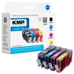 4 KMP H108V schwarz, cyan, magenta, gelb Tintenpatronen ersetzen HP 364 (N9J73AE)