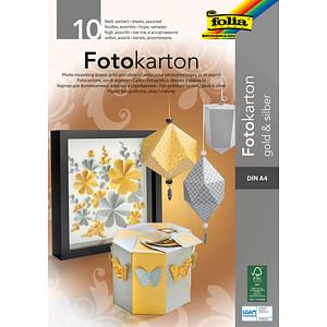 folia Fotokarton farbsortiert 300 g/qm 10 Blatt