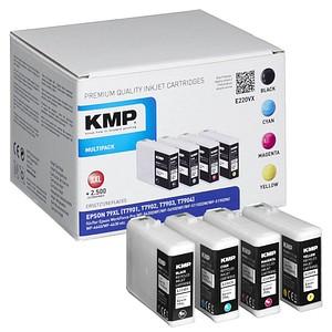 4 KMP E220VX schwarz, cyan, magenta, gelb Tintenpatronen ersetzen EPSON T7901XL, T7902XL, T7903XL, T7904XL