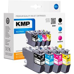 4 KMP B58V schwarz, cyan, magenta, gelb Tintenpatronen ersetzen brother LC-3217VALDR
