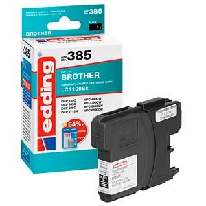edding EDD-385 schwarz Tintenpatrone ersetzt brother LC-1100BK