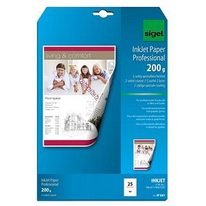 SIGEL Fotopapier IP681 DIN A4 matt 200 g/qm 25 Blatt