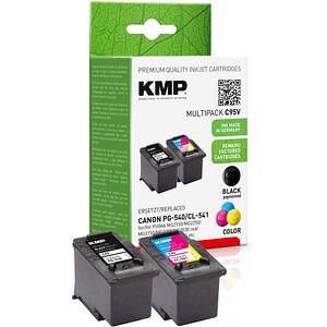 2 KMP C95V schwarz, color Druckköpfe ersetzen Canon PG-540/CL-541