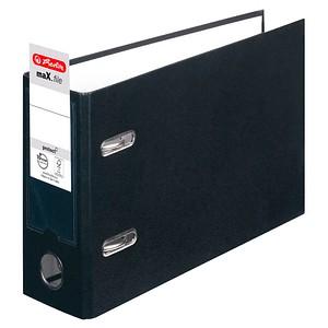 herlitz max.file Ordner schwarz Karton 8,0 cm DIN A5 quer
