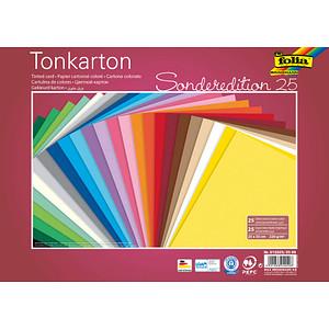 folia Fotokarton Sonderedition 25 farbsortiert 220 g/qm 25 Bogen