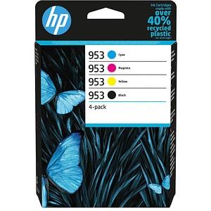 4 HP 953 (6ZC69AE) schwarz, cyan, magenta, gelb Tintenpatronen