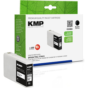 KMP E220BX schwarz Tintenpatrone ersetzt EPSON T7901XL