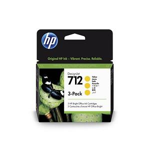 3 HP 712 (3ED79A) gelb Tintenpatronen