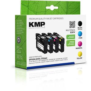 4 KMP E201V schwarz, cyan, magenta, gelb Tintenpatronen ersetzen EPSON 603XL (T03A6)