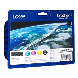 4 brother LC-985BK/C/M/Y schwarz, cyan, magenta, gelb Tintenpatronen