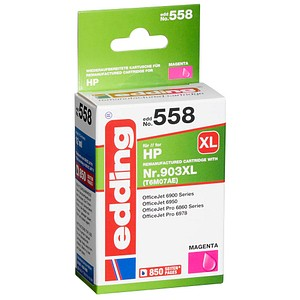 edding EDD-558 magenta Tintenpatrone ersetzt HP 903XL (T6M07AE)