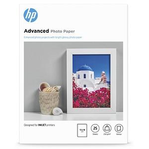 HP Fotopapier Q8696A 13,0 x 18,0 glänzend 250 g/qm 25 Blatt