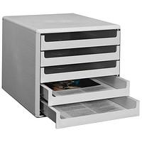 grau 6 Schübe LEITZ Schubladenbox Plus