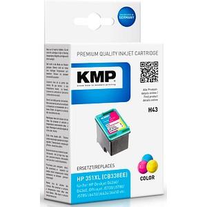 KMP H43 color Tintenpatrone ersetzt HP 351XL (CB338EE)