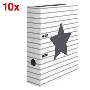 10 HERMA Stars Motivordner weiß Liniert mit Stern 7,0 cm DIN A4