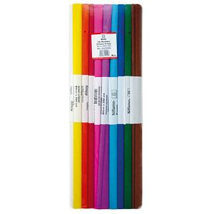 WEROLA Krepppapier schwer entflammbar farbsortiert 38 g/qm 10 Rollen