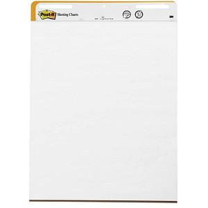 Post-it® Flipchart-Papier Super Sticky Meeting Chart blanko 63,5 x 77,5 cm, 30 Blatt, 2 Blöcke