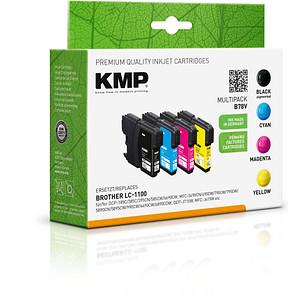 4 KMP B78V schwarz, cyan, magenta, gelb Tintenpatronen ersetzen brother LC-1100VALBP