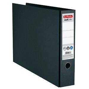 herlitz maX.file Ordner schwarz marmoriert Karton 7,5 cm DIN A3 quer