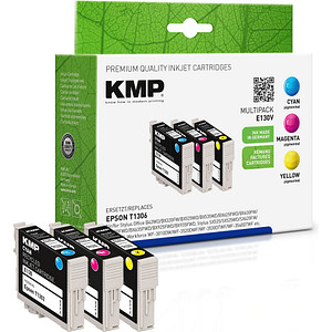 3 KMP E130V cyan, magenta, gelb Tintenpatronen ersetzen EPSON T1306XL