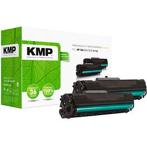 2 KMP H-T14D schwarz Toner ersetzen HP 12A; Canon  703(Q2612AD;  7616A005)
