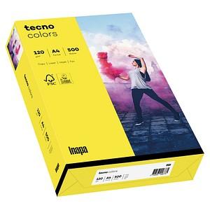 tecno Kopierpapier colors gelb DIN A4 120 g/qm 250 Blatt