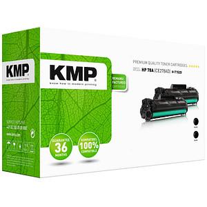 2 KMP H-T152D schwarz Toner ersetzen HP 78A (CE278AD)