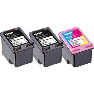 3 KMP H136V schwarz, color Tintenpatronen ersetzen HP 301 (E5Y87EE)