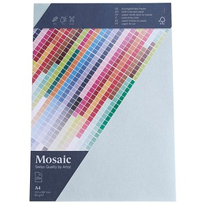 artoz Briefpapier Mosaic hellblau DIN A4 90 g/qm 25 Blatt