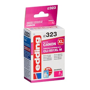 edding EDD-323 magenta Tintenpatrone ersetzt Canon CLI-551 XL