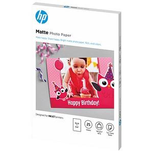 HP Fotopapier 7HF70A 10,0 x 15,0 matt 180 g/qm 25 Blatt