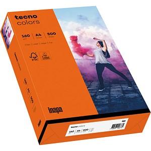 tecno Kopierpapier colors intensivorange DIN A4 160 g/qm 250 Blatt