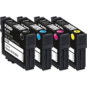 4 KMP E158V schwarz, cyan, magenta, gelb Tintenpatronen ersetzen EPSON 18 / T1806