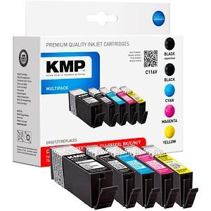 5 KMP C116V 2x schwarz, 1x cyan, 1x magenta, 1x gelb Tintenpatronen ersetzen Canon PGI-580XXL PGBK, CLI 581XXL BK/C/M/Y