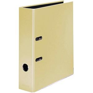 FALKEN Pastell Color Ordner Vanille Gelb Karton 8,0 cm DIN A4