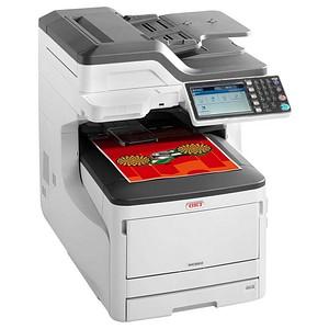 OKI MC853dn 4 in 1 Farblaser-Multifunktionsdrucker grau