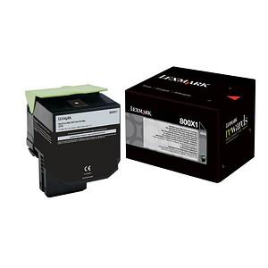 Lexmark 80C0X10 schwarz Toner