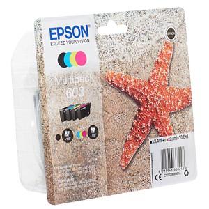 4 EPSON 603 schwarz, cyan, magenta, gelb Tintenpatronen