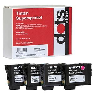 4 dots   schwarz, cyan, magenta, gelb Tintenpatronen ersetzt EPSON T1626