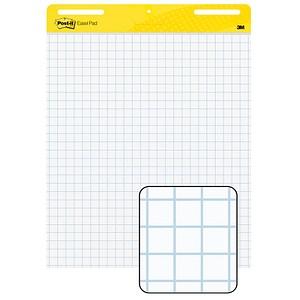 Post-it® Flipchart-Papier Super Sticky Meeting Chart kariert 63,5 x 77,5 cm, 30 Blatt, 2 Blöcke